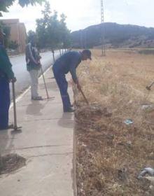 عملية تزيين الشوارع عبر كامل البلدية